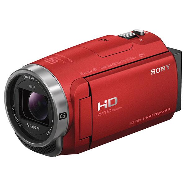 64GBメモリー内蔵の空間光学手ブレ補正機能搭載HDハンディカム ソニー (SONY) HDR-CX680-R レッド [デジタルHD ビデオカメラレコーダー] ハンディカム