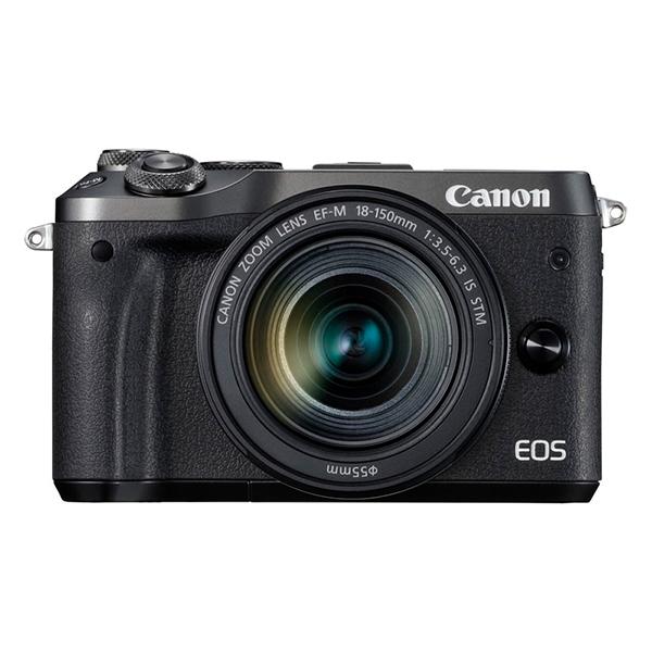 デュアルピクセル CMOS AF搭載のミラーレスカメラ(EF-M18-150 IS STM レンズキット) 【送料無料】CANON EOS M6 EF-M18-150 IS STM レンズキット ブラック [ミラーレスカメラ]