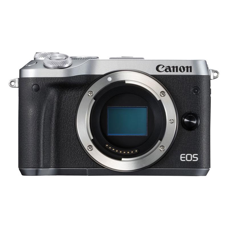 【送料無料】CANON EOS M6 ボディ シルバー [ミラーレスカメラ]