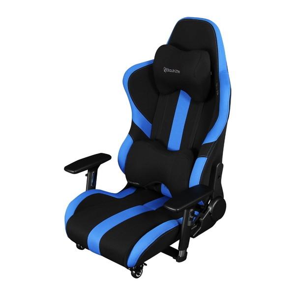 【送料無料】Bauhutte LOC-950RR-BU ブルー&ブラック プロシリーズ [ゲーミング座椅子]【同梱配送不可】【代引き不可】【沖縄・北海道・離島配送不可】