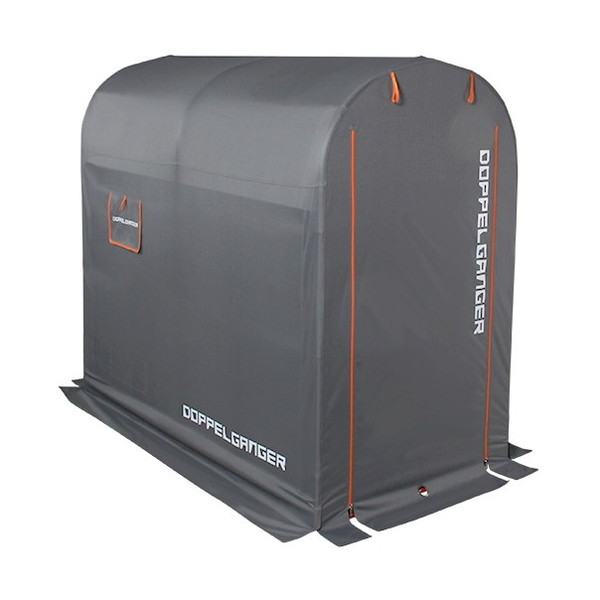 【送料無料】DOPPELGANGER DCC330M-GY グレー×オレンジ [ストレージバイクガレージ(Mサイズ)]【同梱配送不可】【代引き不可】【沖縄・離島配送不可】
