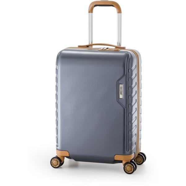 【送料無料】アジア・ラゲージ MS-202-18 ガンメタ マックススマート [スーツケース (29L/1~2泊)]