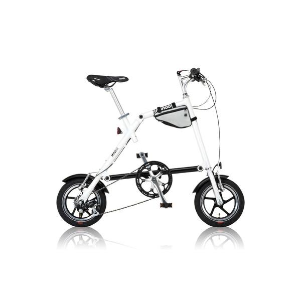 【送料無料】nanoo FD-1207 ホワイト [折りたたみ自転車(6段変速)]【同梱配送不可】【代引き不可】【沖縄・北海道・離島配送不可】