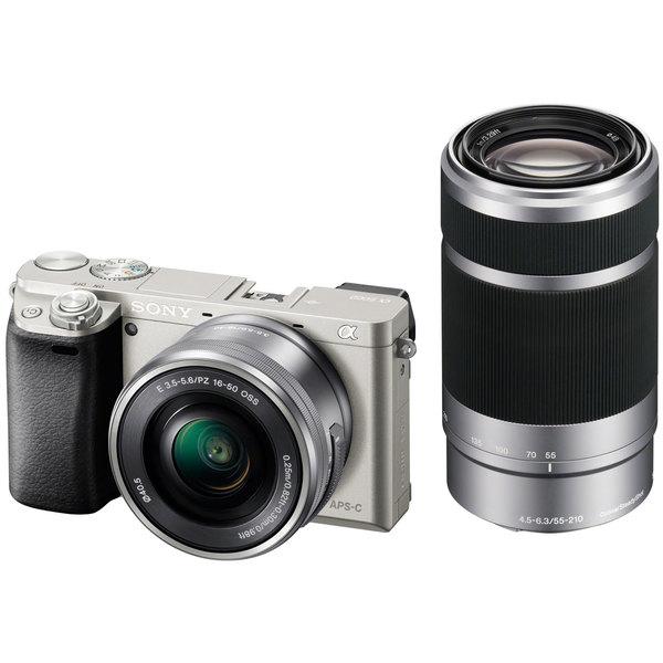 SONY α6000 ILCE-6000Y ダブルズームレンズキット シルバー [デジタル一眼カメラ(2430万画素)]