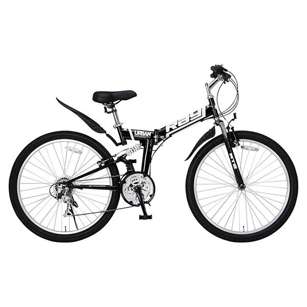 【送料無料】Raychell MTB-2618RR ブラック [折りたたみマウンテンバイク(26インチ・18段変速)]【同梱配送不可】【代引き不可】【沖縄・北海道・離島配送不可】