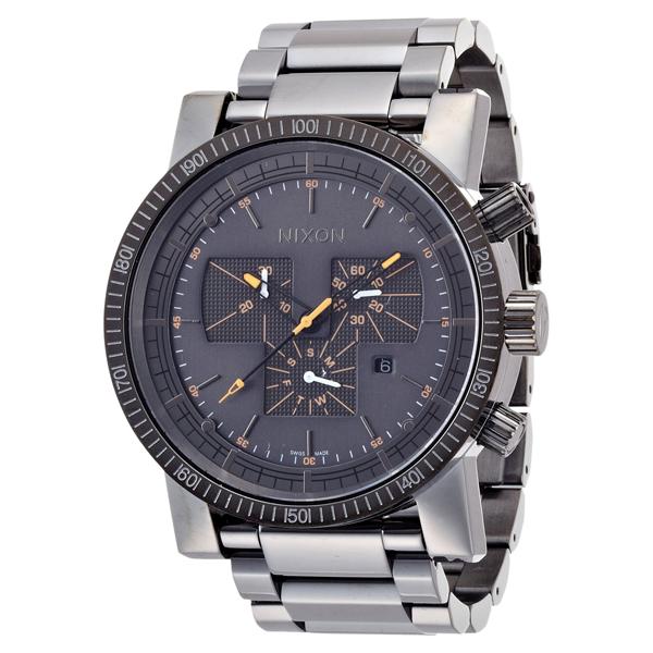 【送料無料】NIXON A1541235 THE MAGNACON SS スティールグレー/オレンジポイント [腕時計] 【並行輸入品】