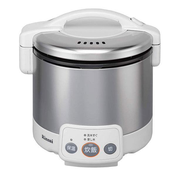 【送料無料】Rinnai RR-030VM(W)-13A グレイッシュホワイト こがまる [ガス炊飯器(都市ガス用・3合炊き)]