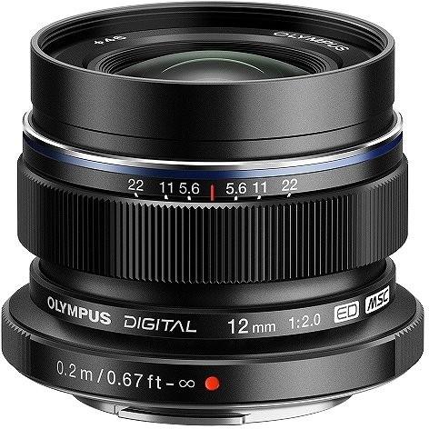 【送料無料】OLYMPUS(オリンパス) M.ZUIKO DIGITAL ED 12mm F2.0 ブラック [交換レンズ (マイクロフォーサーズ)]
