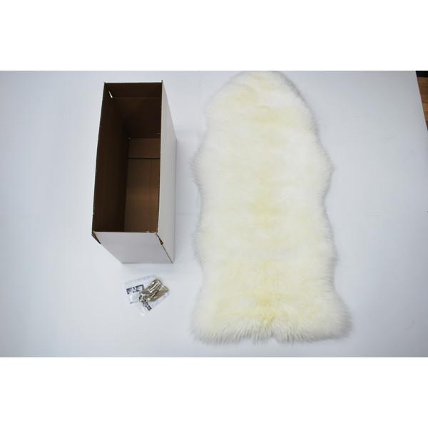【送料無料】BMS LC-01WH ホワイト [ラグジュアリームートン シートカバー (長毛/サイズ60×120cm)]