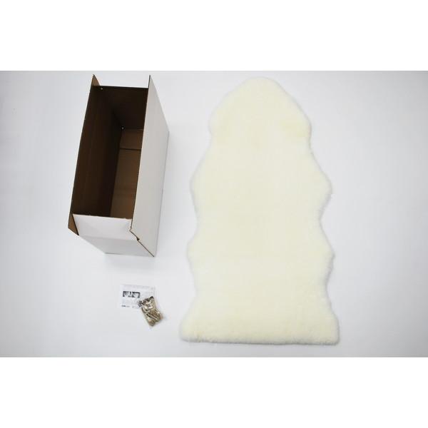 【送料無料】BMS LD-01WH ホワイト [ラグジュアリームートン シートカバー (短毛/サイズ60×120cm)]