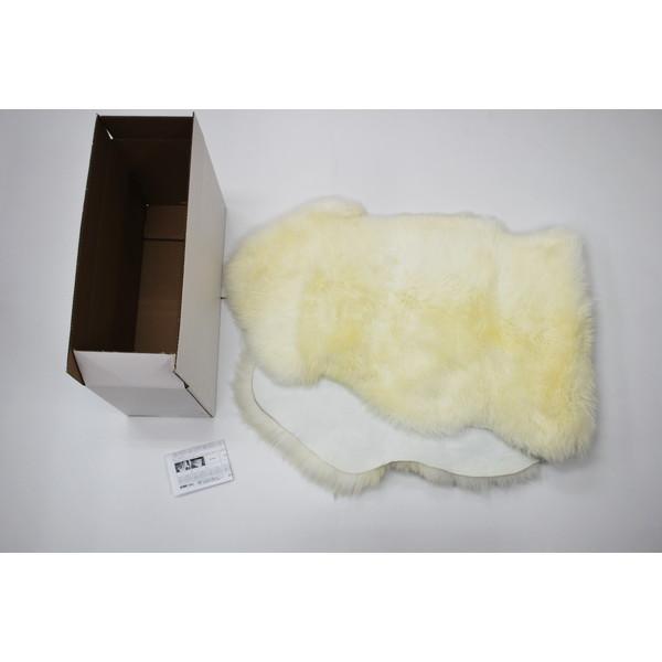 【送料無料】BMS LA-02WH ホワイト [ラグジュアリームートン ワイドクッション (長毛/サイズ60×168cm)]
