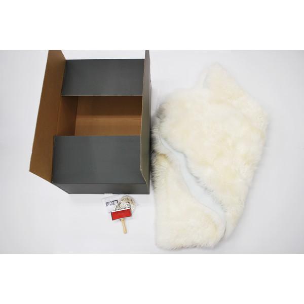 【送料無料】BMS LC-02WH ホワイト [ラグジュアリームートン ワイドシートカバー (長毛/サイズ120×140cm)]