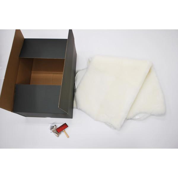 【送料無料】BMS LD-02WH ホワイト [ラグジュアリームートン ワイドシートカバー (短毛/サイズ120×140cm)]