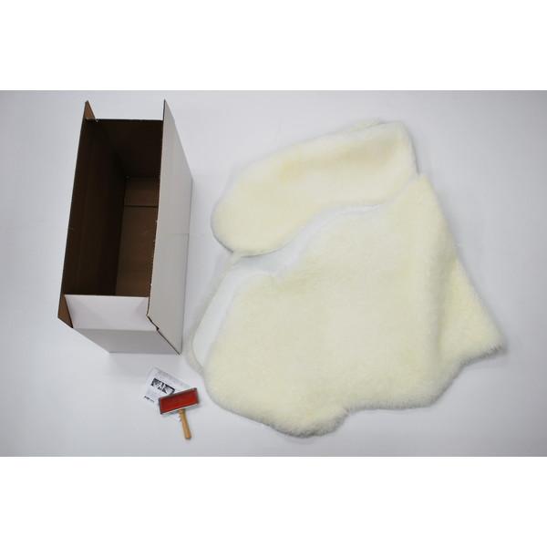 【送料無料】BMS LB-04WH ホワイト [ラグジュアリームートン クッション タイプ2 (短毛/サイズ60×168cm2枚)]