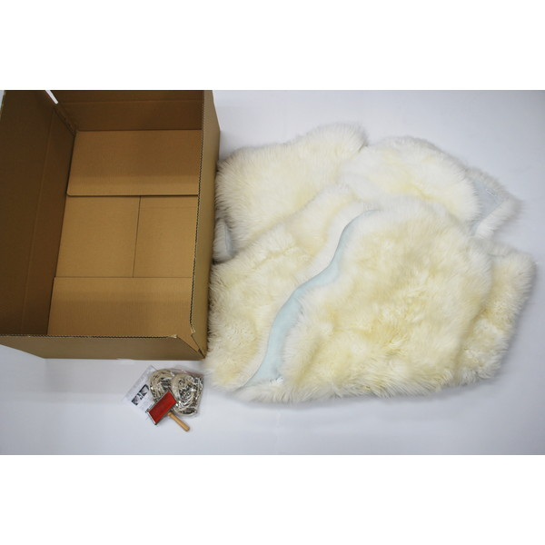 【送料無料】BMS LC-04WH ホワイト [ラグジュアリームートン シートカバー タイプB (長毛/サイズ120×140cm2枚)]