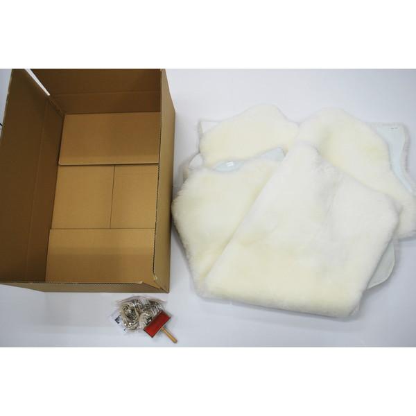 【送料無料】BMS LD-04WH ホワイト [ラグジュアリームートン シートカバー タイプB (短毛/サイズ120×140cm2枚)]