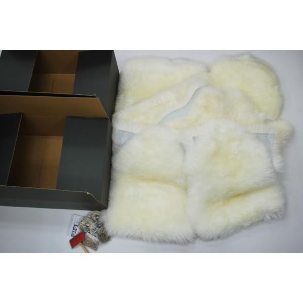 【送料無料】BMS LC-07WH ホワイト [ラグジュアリームートン シートカバー タイプE (長毛/サイズ60×120cm2枚/120×140cm2枚)]