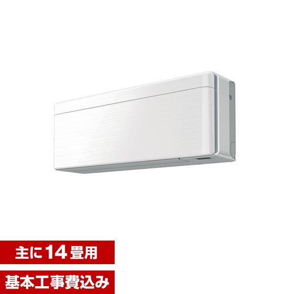 【送料無料】【標準設置工事セット】ダイキン(DAIKIN) S40VTSXP-W ラインホワイト risora [エアコン(主に14畳用・200V対応)]