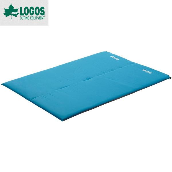 ロゴス(LOGOS) (超厚・高弾力)セルフインフレートマット・DUO No.72884140 インフレートマット キャンピングマット エアーマット 2人用 キャンプ アウトドア コンパクトサイズ  極厚快適マット  収納サイズは圧縮コンパクト