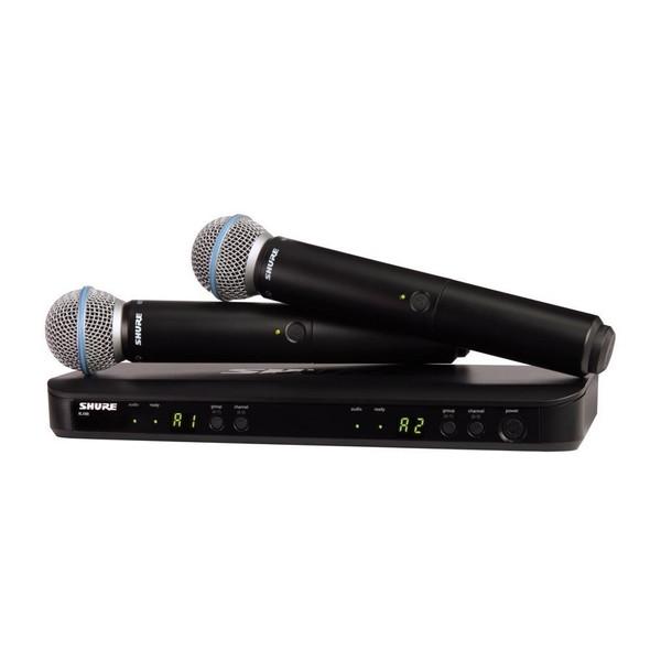 【送料無料】SHURE BLX288J/B58-JB [デュアルチャンネルハンドヘルド型ワイヤレスシステム]