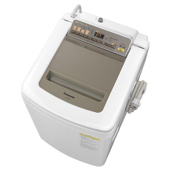 【送料無料】PANASONIC NA-FD80H5-N シャンパン [縦型洗濯乾燥機 (洗濯8.0kg/乾燥4.5kg)]【代引き不可】