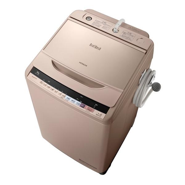 【送料無料】日立 BW-V100B-N シャンパン ビートウォッシュ [全自動洗濯機 (洗濯10.0kg)] BWV100BN