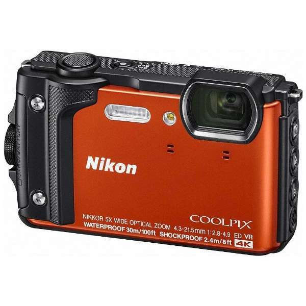【送料無料】NIKON COOLPIX W300 OR オレンジ[コンパクトデジタルカメラ(1605万画素)]