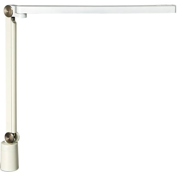 山田照明 Z-S7000-W ホワイト(白) Z-LIGHT(ゼットライト/Zライト) [LED光源デスクライト] 連続調光 各色無段階調光(30~100%) [昼光色 昼白色 白色 電球色(Ra80)] 専用上締めクランプ(取付可能厚(10~45mm) JIS-AAクラス 精密作業 工場作業用
