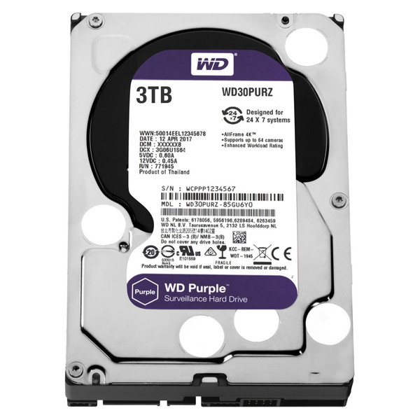 【送料無料】WESTERN DIGITAL WD30PURZ WD Purple [3.5インチ内蔵HDD(3TB・3.5インチ・SATA600)]