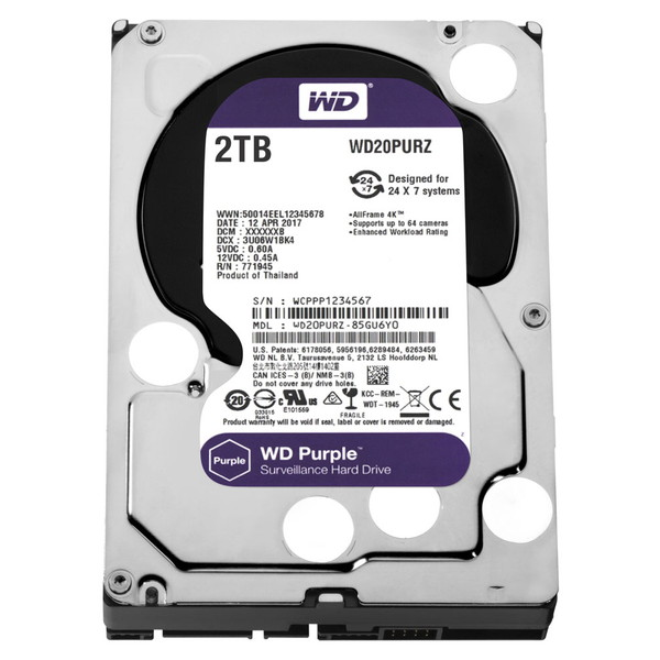 【送料無料】WESTERN DIGITAL WD20PURZ WD Purple [3.5インチ内蔵HDD(2TB・3.5インチ・SATA600)]