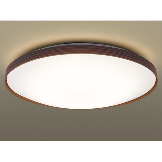 【送料無料】PANASONIC LGBZ3539 ダークブラウン [洋風LEDシーリングライト(~12畳/調光・調色) リモコン付き サークルタイプ]