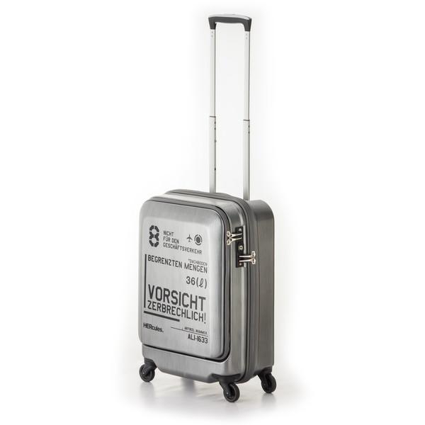 【送料無料】アジア・ラゲージ HEC-1633-18 マットブラッシュブラック FREIGHTER [スーツケース (36L・1~2泊)]