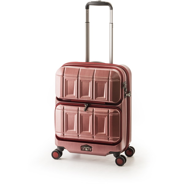 【送料無料】アジア・ラゲージ PTS-6005 マットブラッシュレッド PANTEON [スーツケース (36L・1~2泊)]