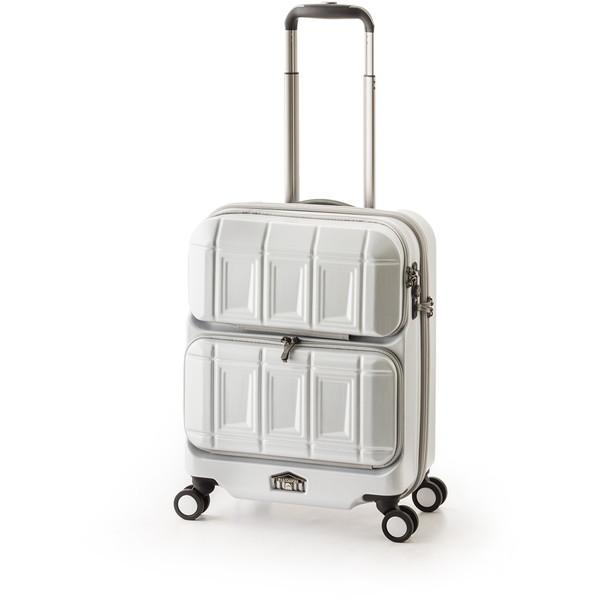 【送料無料】アジア・ラゲージ PTS-6005 マットブラッシュホワイト PANTEON [スーツケース (36L・1~2泊)]