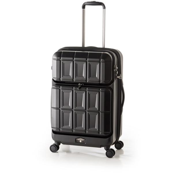 【送料無料】アジア・ラゲージ PTS-6006 マットブラック PANTEON [スーツケース (54L+8L・2~3泊)]
