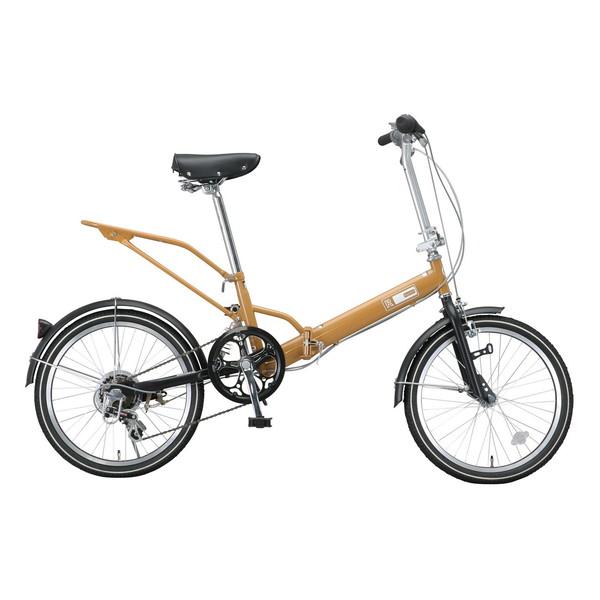 【送料無料】Raychell VO-206R キャメル (10442) [折り畳み自転車(20インチ・6段変速)]【同梱配送不可】【代引き不可】【沖縄・北海道・離島配送不可】