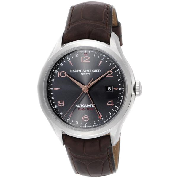 【送料無料】BAUME&MERCIER ボーム&メルシエ ボーム&メルシェ MOA10111 クリフトン デュアルタイム グレー/ブラウン [メンズ 腕時計]