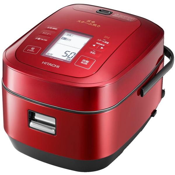【送料無料】日立 RZ-AW3000M-R メタリックレッド ふっくら御膳 [圧力スチームIH炊飯器(5.5合)] RZAW3000MR