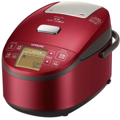 【送料無料】圧力スチームIH炊飯器(5.5合) 日立(HITACHI) RZ-AV100M-R メタリックレッド ふっくら御膳 極上炊き 炊込み おかゆ 発芽玄米 雑穀米 麦ごはん ケーキ 雑炊 温泉卵 RZAV100MR