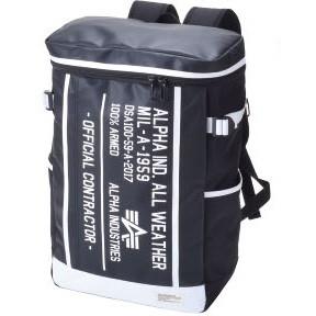【送料無料】ALPHA INDUSTRIES 40057 BOX(大) バックパック デイバッグ スクエアバッグ ボックス型 ブラック/ホワイト