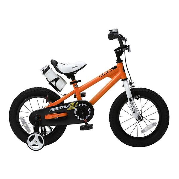【送料無料】ROYAL BABY RB-WE FREESTYLE 14 orange (35961) [子供用自転車(14インチ)補助輪付き] 【同梱配送不可】【代引き・後払い決済不可】【沖縄・北海道・離島配送不可】