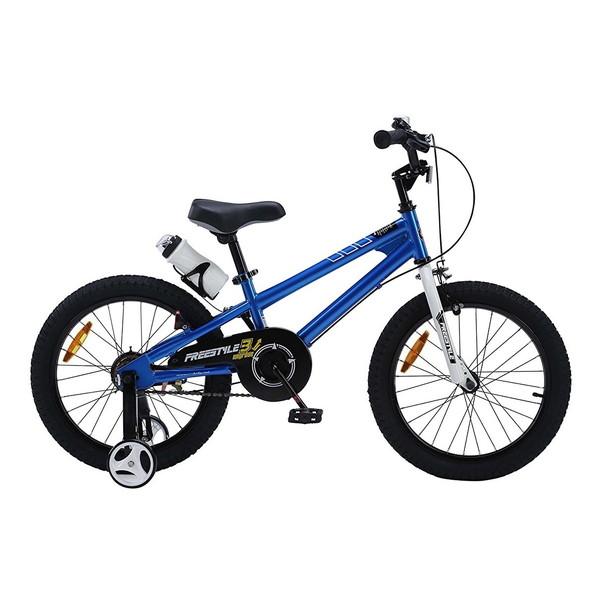【送料無料】ROYAL BABY RB-WE FREESTYLE 18 blue (35973) [子供用自転車(18インチ)補助輪付き]【同梱配送不可】【代引き不可】【沖縄・北海道・離島配送不可】