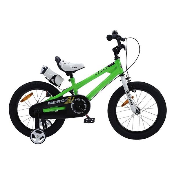 【送料無料】ROYAL BABY RB-WE FREESTYLE 18 green (35974) [子供用自転車(18インチ)補助輪付き]【同梱配送不可】【代引き不可】【沖縄・北海道・離島配送不可】