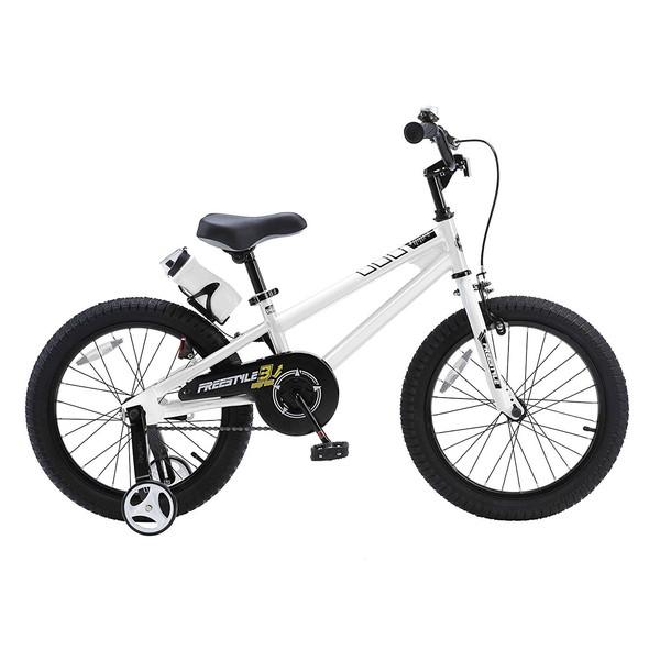 【送料無料】ROYAL BABY RB-WE FREESTYLE 18 white (35975) [子供用自転車(18インチ)補助輪付き] 【同梱配送不可】【代引き・後払い決済不可】【沖縄・北海道・離島配送不可】
