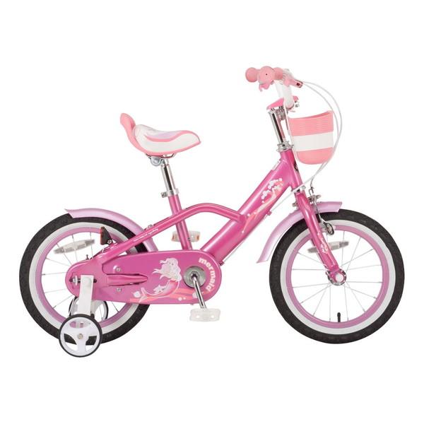 【送料無料】ROYAL BABY RB-WE MERMAID 16 pink (35994) [子供用自転車(16インチ)補助輪付き]【同梱配送不可】【代引き不可】【沖縄・北海道・離島配送不可】