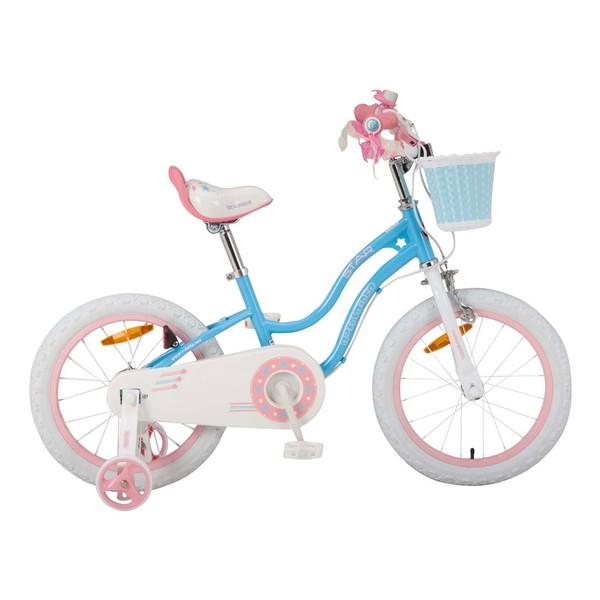 【送料無料】ROYAL BABY RB-WE STAR GIRL 16 blue (35992) [子供用自転車(16インチ)補助輪付き]【同梱配送不可】【代引き不可】【沖縄・北海道・離島配送不可】