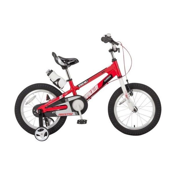 【送料無料】ROYAL BABY RB-WE SPACE NO.1 18 red (35987) [子供用自転車(18インチ)補助輪付き]【同梱配送不可】【代引き不可】【沖縄・北海道・離島配送不可】