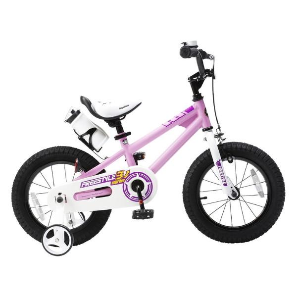 【送料無料】ROYAL BABY RB-WE FREESTYLE 14 pink (35965) [子供用自転車(14インチ)補助輪付き]【同梱配送不可】【代引き不可】【沖縄・北海道・離島配送不可】