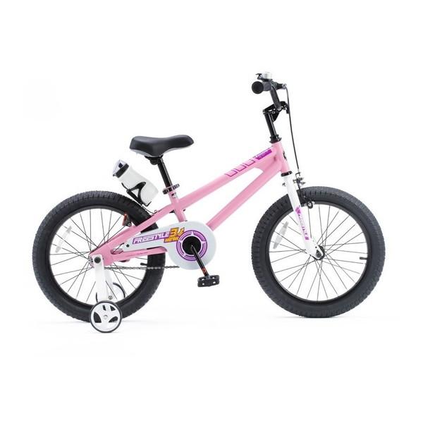 【送料無料】ROYAL BABY RB-WE FREESTYLE 18 pink (35976) [子供用自転車(18インチ)補助輪付き]【同梱配送不可】【代引き不可】【沖縄・北海道・離島配送不可】