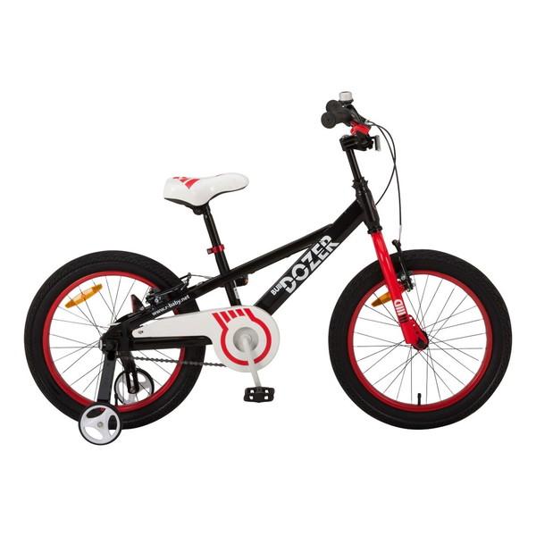 【送料無料】ROYAL BABY RB-WE BULLDOZER 18 black (35958) [子供用自転車(18インチ)補助輪付き]【同梱配送不可】【代引き不可】【沖縄・北海道・離島配送不可】